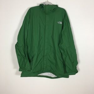 The North Face Green HyVent DT Zip Up Rain Jacket